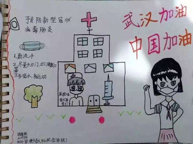 2020武汉抗战疫情手抄报_预防病毒肺炎宣传手抄报
