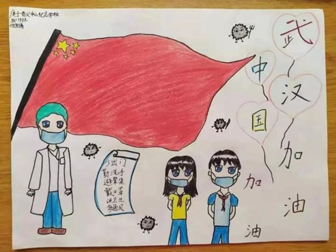 抗击武汉疫情小学生手抄报_怎么画抗疫情手抄报