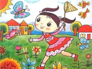 怎样画春天的景色_春天简笔画图片大全集