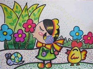 2020春天的景色画背景图片_春天的景色儿童画简笔画图片