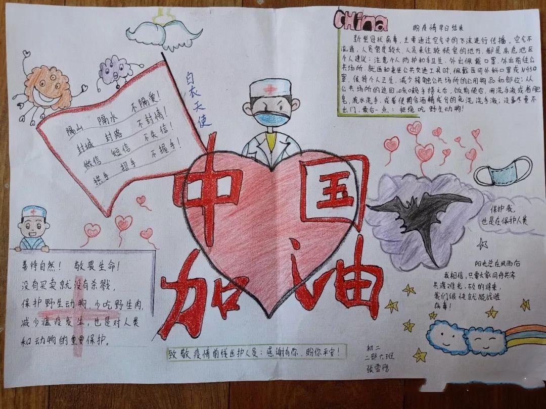 2020武汉疫情手抄报内容_小学生抗疫情手抄报图片