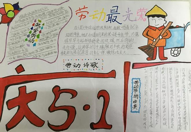 2020劳动最光荣手抄报简单_最漂亮的劳动节学生手抄报