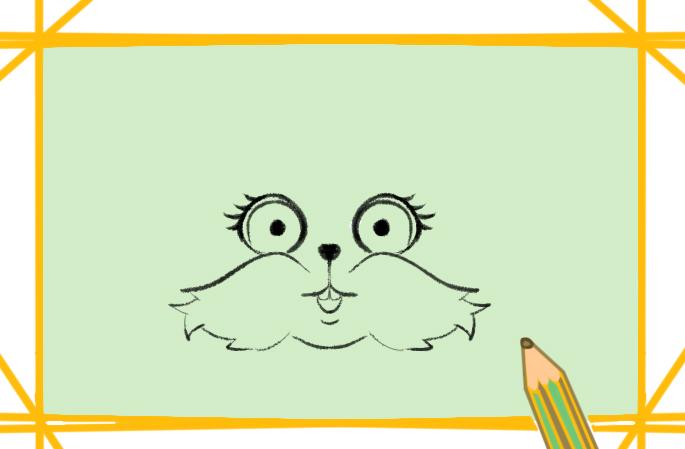 棕色兔子简笔画要怎么画