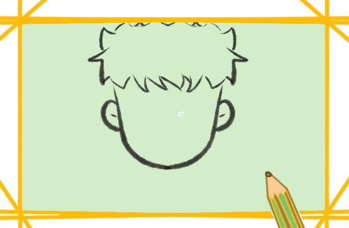 老實的男孩簡筆畫要怎么畫