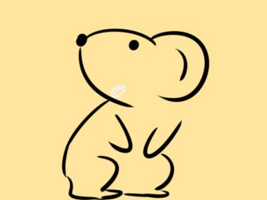 十二生肖之老鼠简笔画怎么画图片