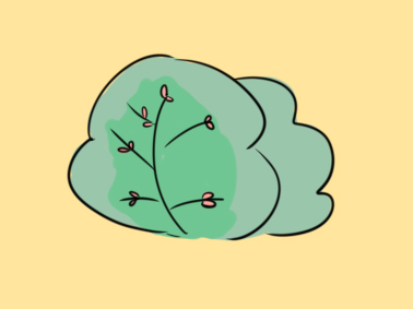 简单的树丛简笔画要怎么画