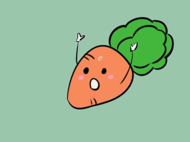 卡通蔬菜之萝卜简笔画要怎么画