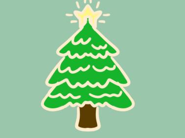 好看的圣诞树简笔画要怎么画