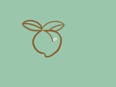 粉紅色的桃子簡筆畫要怎么畫