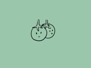 美颜的小番茄儿童简笔画要怎么画
