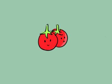 美顏的小番茄兒童簡筆畫要怎么畫