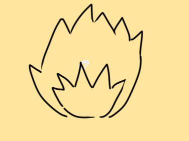 一团大火简笔画要怎么画