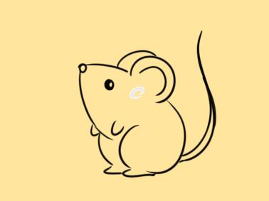 可爱的小老鼠简笔画怎么画
