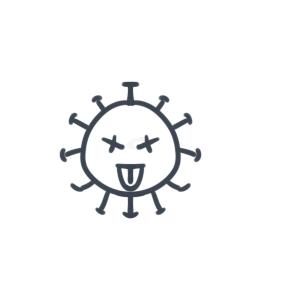简单的新冠病毒简笔画要怎么画图片