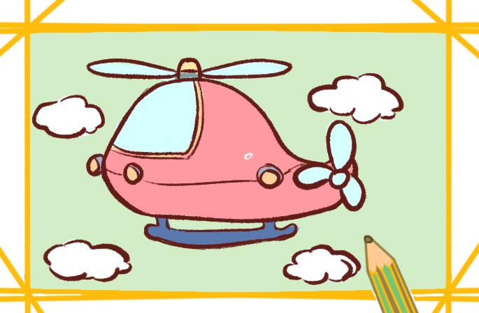 兴趣爱好 学画画 简笔画 《好看的直升飞机上色简笔画小学生要怎么画图片
