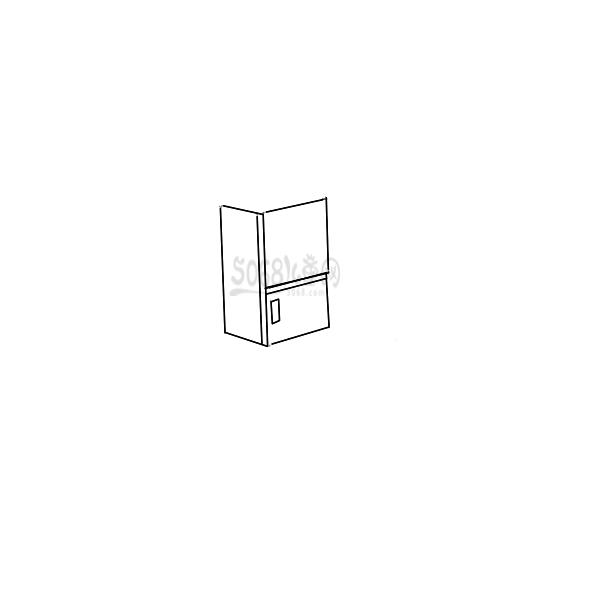 可愛的電冰箱簡筆畫怎么畫