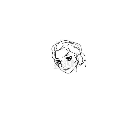 冰雪奇緣艾莎公主怎么畫