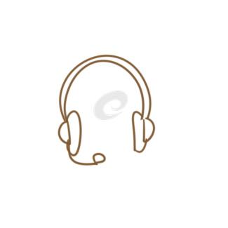 时尚耳机简笔画要怎么画