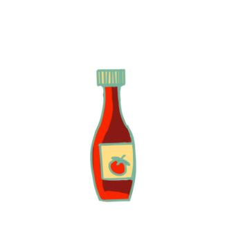 新鲜的番茄酱简笔画要怎么画