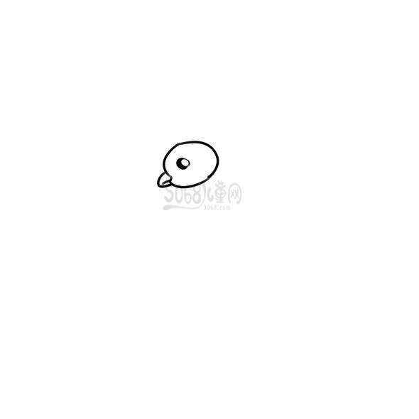 可爱的公鸡简笔画步骤图