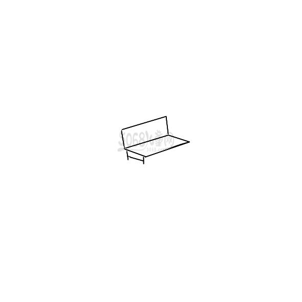 公园长椅简笔画怎么画