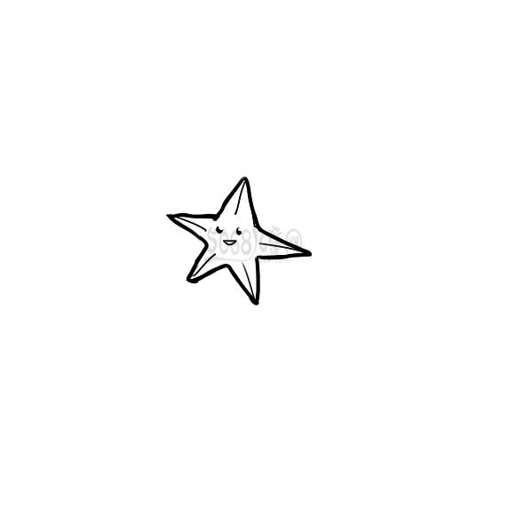 漂亮的小海星简笔画怎么画