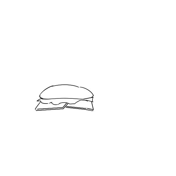 美味的快餐简笔画怎么画