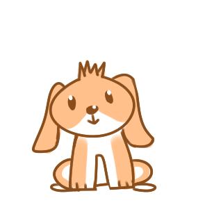 彩色卡通小狗简笔画要怎么画图片