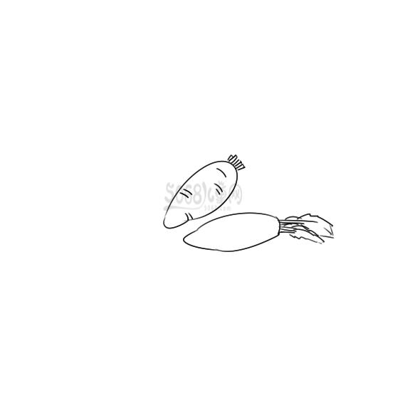 美味的胡萝卜简笔画怎么画