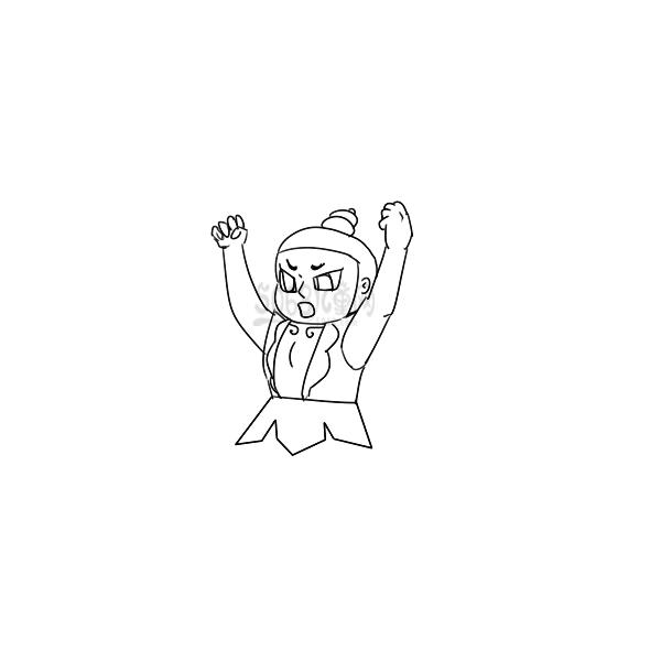 威武的葫芦娃简笔画怎么画
