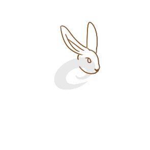 奔跑的兔子简笔画要怎么画