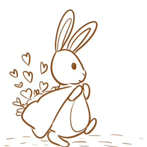 超可爱的兔子简笔画要怎么画