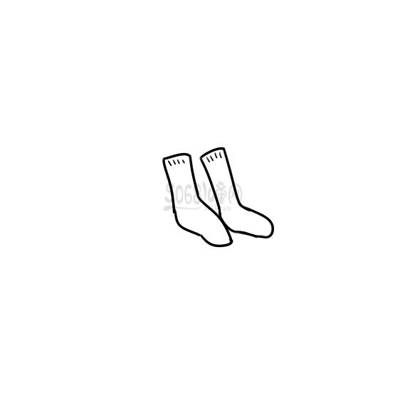 一双袜子的简笔画怎么画