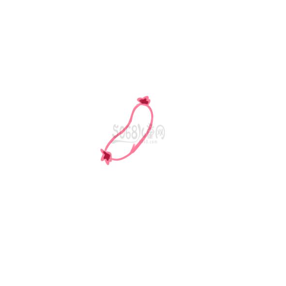 超简单的小香肠简笔画原创教程步骤