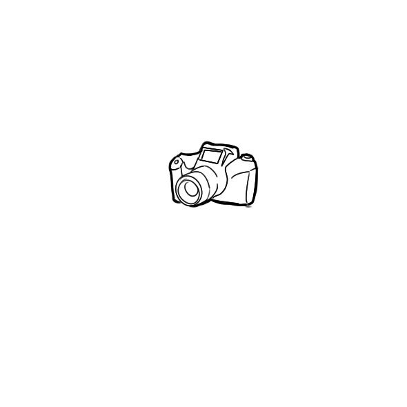 好看的相機簡筆畫怎么畫