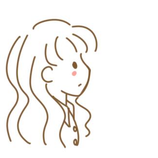超简单的女生侧面简笔画原创教程步骤
